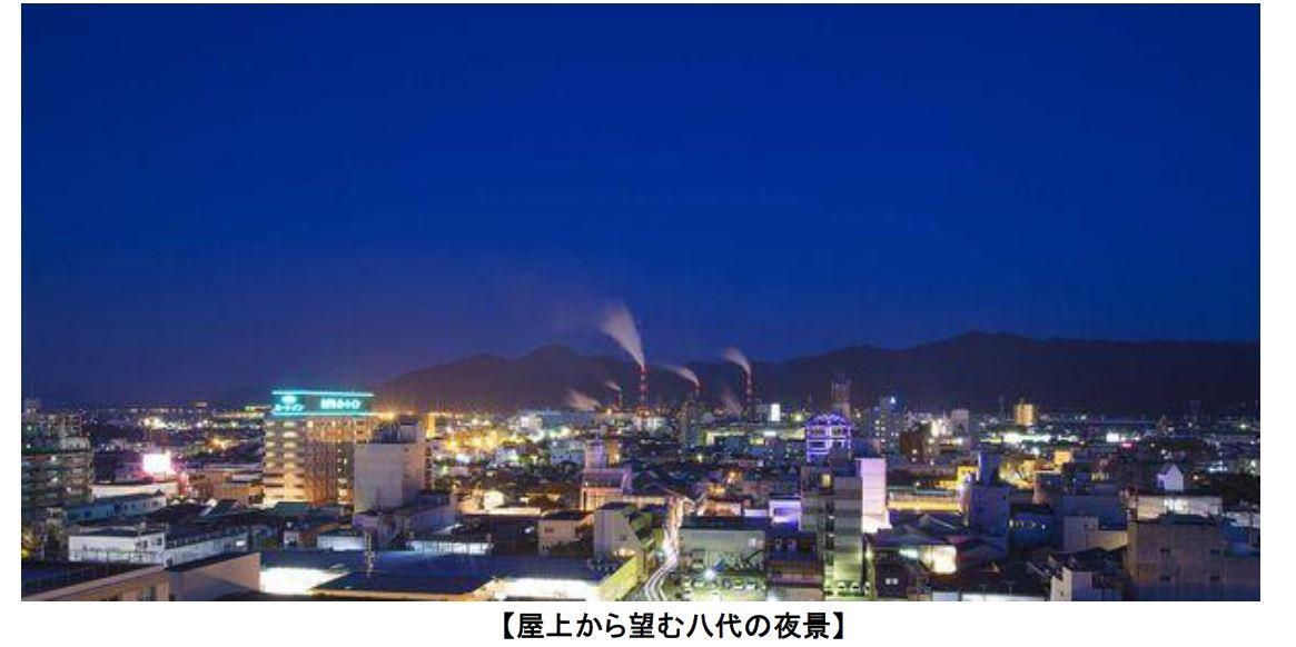 屋上から望む八代の夜景.JPG